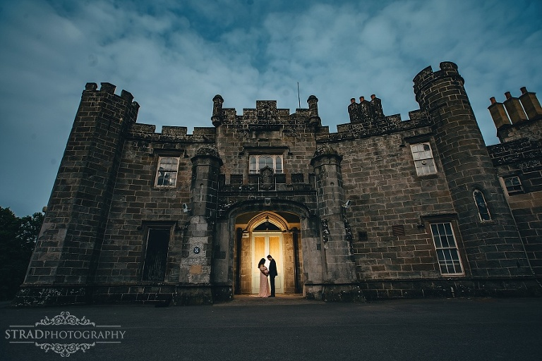 Silhouette maternity photo at the Balloch Castle